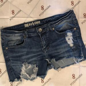 Machine Jeans distressed cutoff shorts